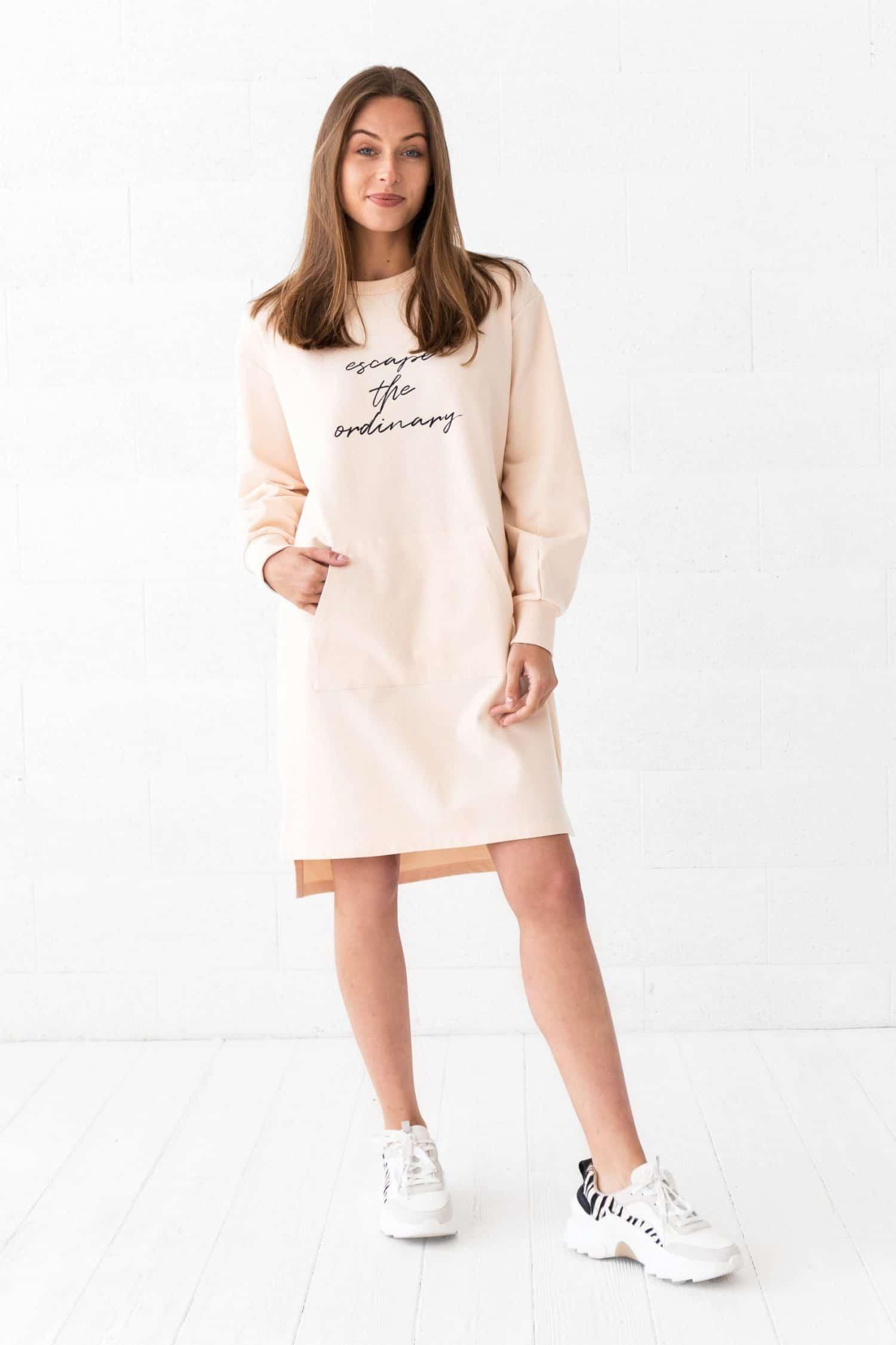 Peach Jumper Dress Sunny