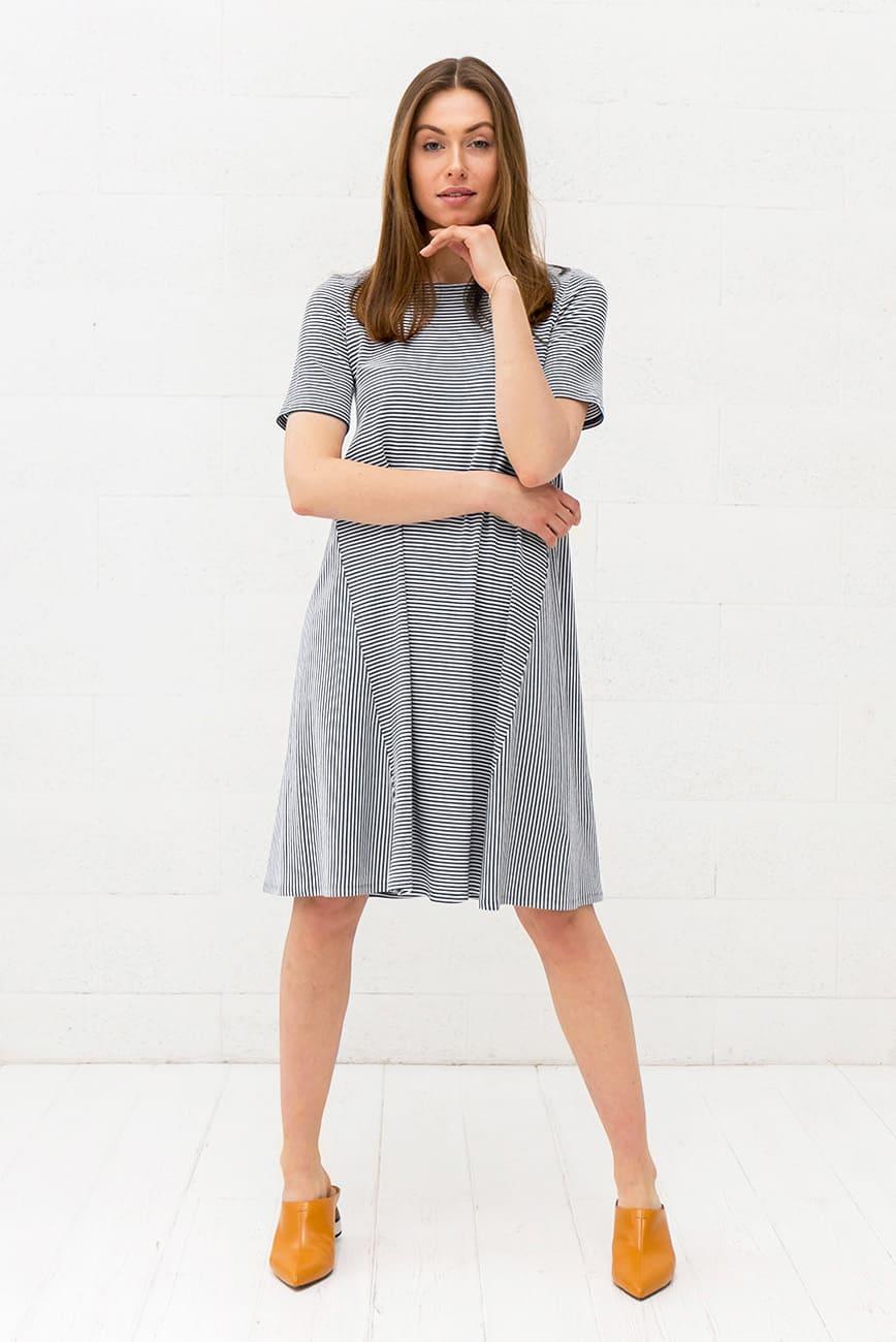 Black Striped Dress Keri