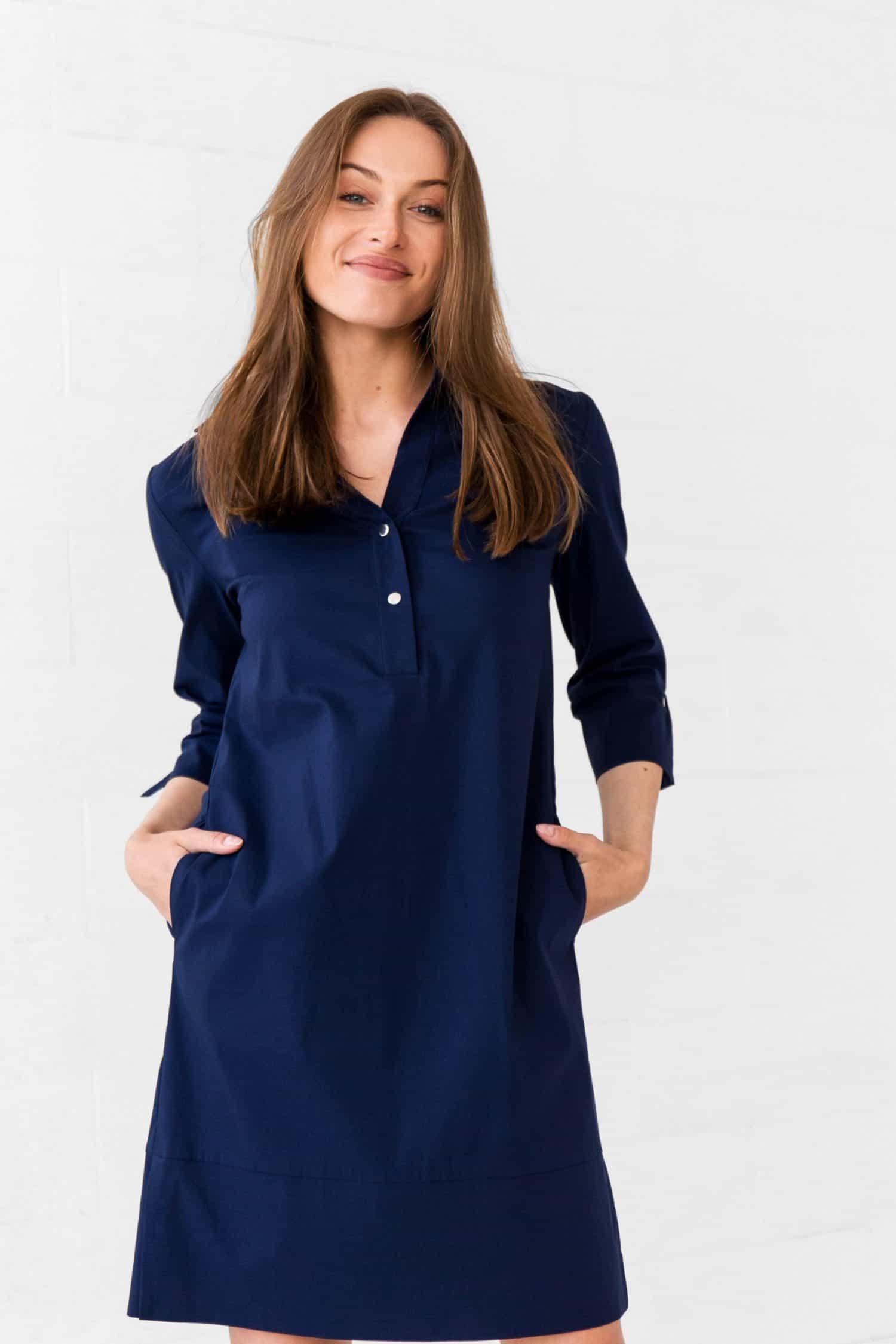 Navy Dress Tesa