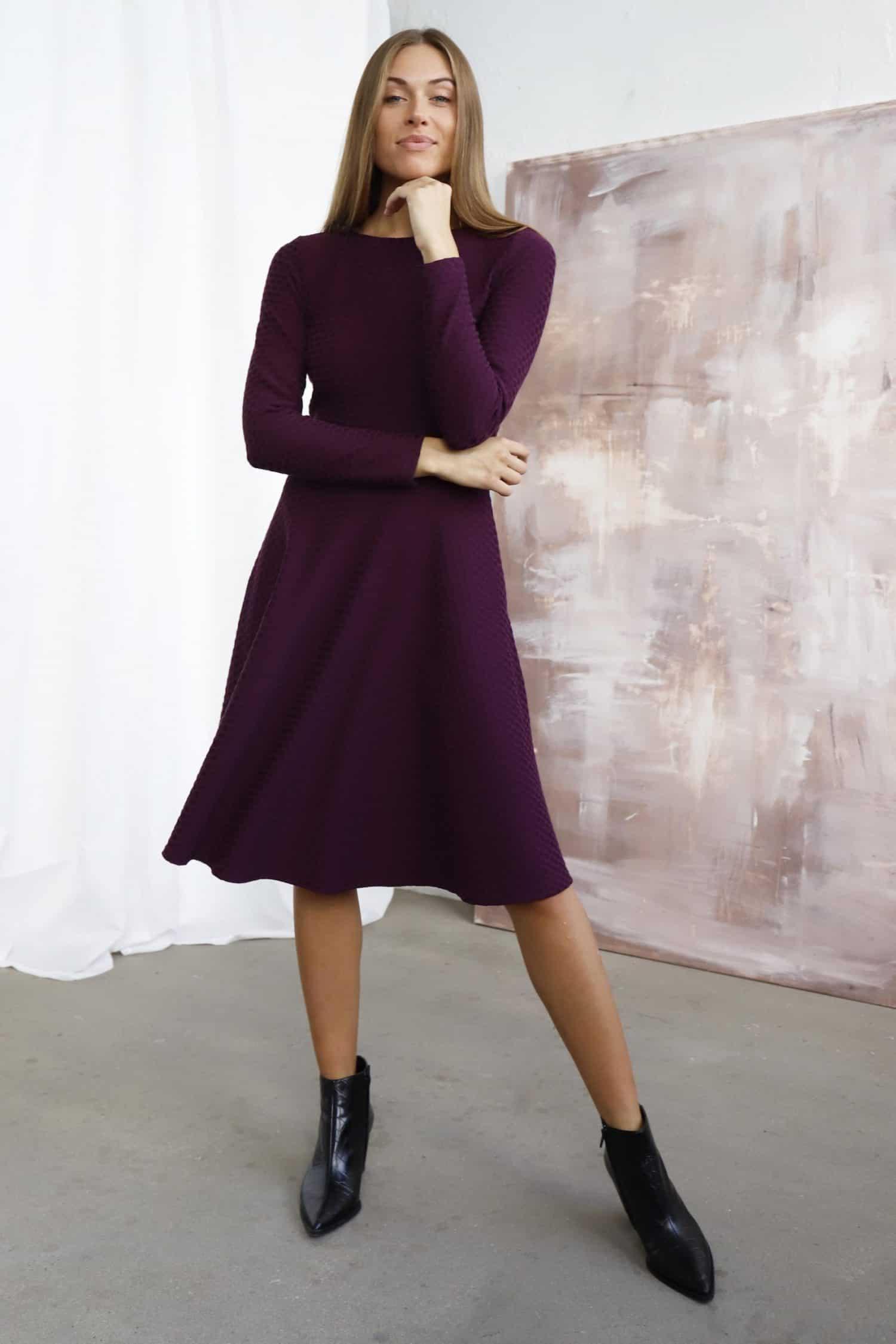 Purple Dress Lauren