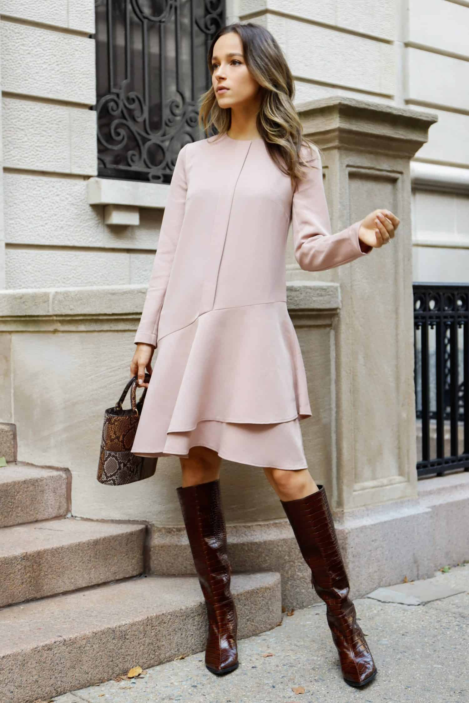 Dusty Rose Dress Vera