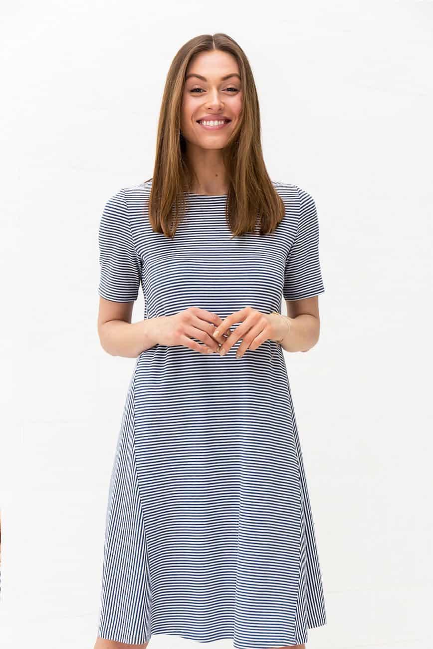 Blue Striped Dress Keri