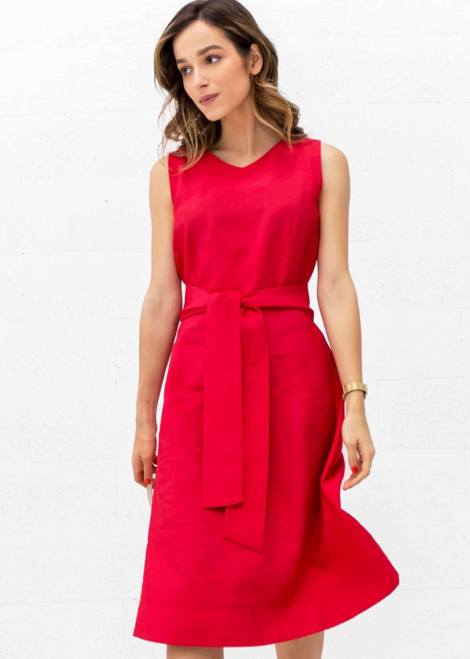 Bright Red Dress Suzie