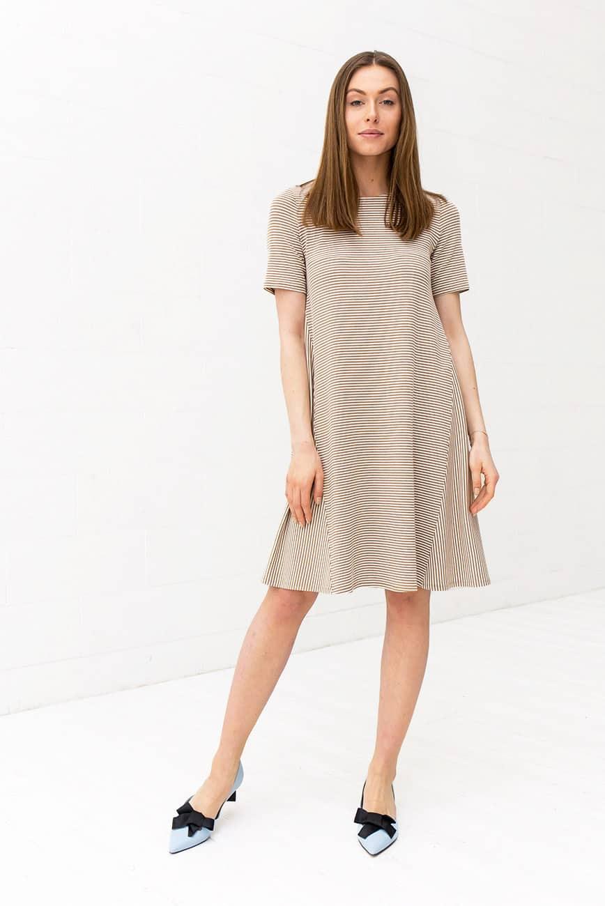Sand Striped Dress Keri