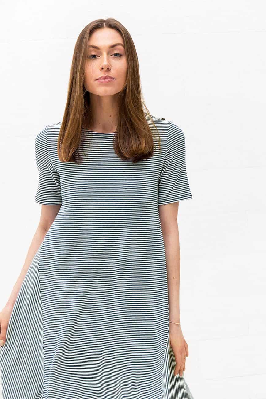 Green Striped Dress Keri